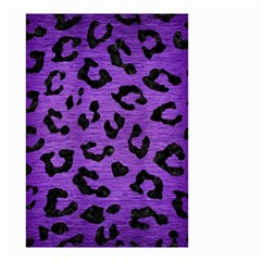 Skin5 Black Marble & Purple Brushed Metal (r) Small Garden Flag (two Sides) by trendistuff