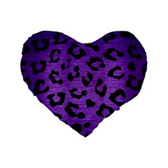 Skin5 Black Marble & Purple Brushed Metal (r) Standard 16  Premium Flano Heart Shape Cushions by trendistuff