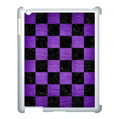 Square1 Black Marble & Purple Brushed Metal Apple Ipad 3/4 Case (white) by trendistuff
