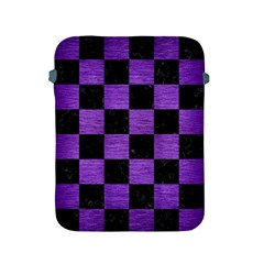 Square1 Black Marble & Purple Brushed Metal Apple Ipad 2/3/4 Protective Soft Cases by trendistuff