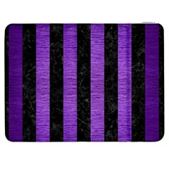 Stripes1 Black Marble & Purple Brushed Metal Samsung Galaxy Tab 7  P1000 Flip Case by trendistuff