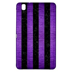 Stripes1 Black Marble & Purple Brushed Metal Samsung Galaxy Tab Pro 8 4 Hardshell Case by trendistuff