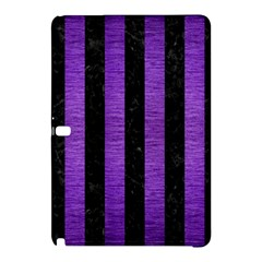 Stripes1 Black Marble & Purple Brushed Metal Samsung Galaxy Tab Pro 12 2 Hardshell Case by trendistuff