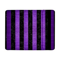 Stripes1 Black Marble & Purple Brushed Metal Samsung Galaxy Tab Pro 8 4  Flip Case by trendistuff
