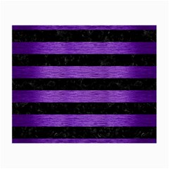Stripes2 Black Marble & Purple Brushed Metal Small Glasses Cloth by trendistuff