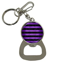 Stripes2 Black Marble & Purple Brushed Metal Button Necklaces by trendistuff