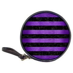 Stripes2 Black Marble & Purple Brushed Metal Classic 20 Cd Wallets by trendistuff