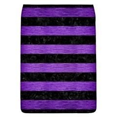 Stripes2 Black Marble & Purple Brushed Metal Flap Covers (l)  by trendistuff