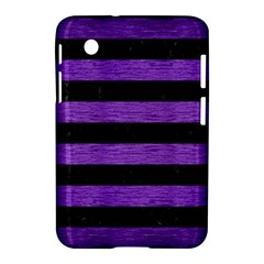 Stripes2 Black Marble & Purple Brushed Metal Samsung Galaxy Tab 2 (7 ) P3100 Hardshell Case  by trendistuff