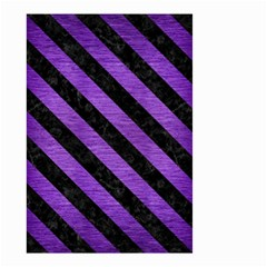 Stripes3 Black Marble & Purple Brushed Metal Small Garden Flag (two Sides) by trendistuff