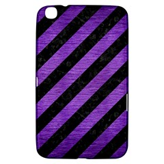 Stripes3 Black Marble & Purple Brushed Metal (r) Samsung Galaxy Tab 3 (8 ) T3100 Hardshell Case  by trendistuff