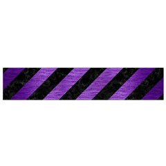 Stripes3 Black Marble & Purple Brushed Metal (r) Flano Scarf (small) by trendistuff