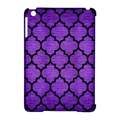 Tile1 Black Marble & Purple Brushed Metal Apple Ipad Mini Hardshell Case (compatible With Smart Cover)