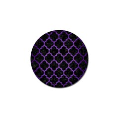 Tile1 Black Marble & Purple Brushed Metal (r) Golf Ball Marker by trendistuff