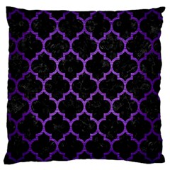 Tile1 Black Marble & Purple Brushed Metal (r) Standard Flano Cushion Case (two Sides) by trendistuff