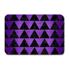 Triangle2 Black Marble & Purple Brushed Metal Plate Mats by trendistuff