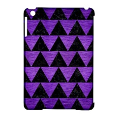 Triangle2 Black Marble & Purple Brushed Metal Apple Ipad Mini Hardshell Case (compatible With Smart Cover) by trendistuff