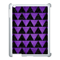 Triangle2 Black Marble & Purple Brushed Metal Apple Ipad 3/4 Case (white) by trendistuff