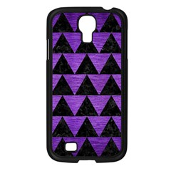 Triangle2 Black Marble & Purple Brushed Metal Samsung Galaxy S4 I9500/ I9505 Case (black) by trendistuff