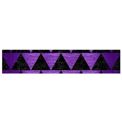 Triangle2 Black Marble & Purple Brushed Metal Flano Scarf (small) by trendistuff