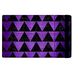 Triangle2 Black Marble & Purple Brushed Metal Apple Ipad Pro 12 9   Flip Case by trendistuff