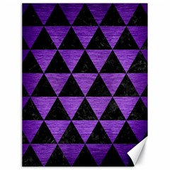 Triangle3 Black Marble & Purple Brushed Metal Canvas 18  X 24   by trendistuff