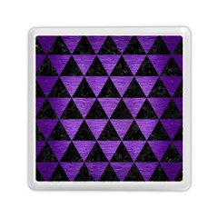 Triangle3 Black Marble & Purple Brushed Metal Memory Card Reader (square)  by trendistuff