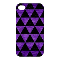 Triangle3 Black Marble & Purple Brushed Metal Apple Iphone 4/4s Hardshell Case