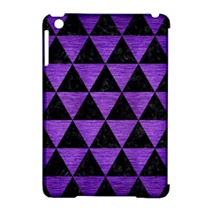 Triangle3 Black Marble & Purple Brushed Metal Apple Ipad Mini Hardshell Case (compatible With Smart Cover) by trendistuff