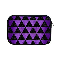 Triangle3 Black Marble & Purple Brushed Metal Apple Ipad Mini Zipper Cases by trendistuff