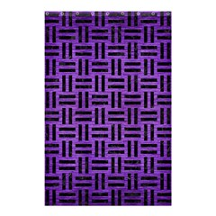 Woven1 Black Marble & Purple Brushed Metal Shower Curtain 48  X 72  (small)  by trendistuff