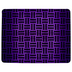 Woven1 Black Marble & Purple Brushed Metal Jigsaw Puzzle Photo Stand (rectangular) by trendistuff