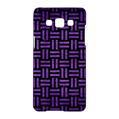 Woven1 Black Marble & Purple Brushed Metal (r) Samsung Galaxy A5 Hardshell Case  by trendistuff