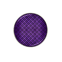Woven2 Black Marble & Purple Brushed Metalwoven2 Black Marble & Purple Brushed Metal Hat Clip Ball Marker (4 Pack) by trendistuff