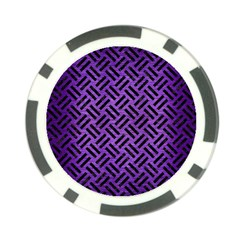Woven2 Black Marble & Purple Brushed Metalwoven2 Black Marble & Purple Brushed Metal Poker Chip Card Guard by trendistuff