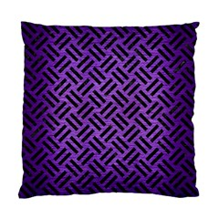 Woven2 Black Marble & Purple Brushed Metalwoven2 Black Marble & Purple Brushed Metal Standard Cushion Case (two Sides) by trendistuff