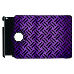 Woven2 Black Marble & Purple Brushed Metalwoven2 Black Marble & Purple Brushed Metal Apple Ipad 2 Flip 360 Case by trendistuff