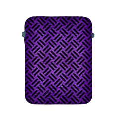 Woven2 Black Marble & Purple Brushed Metalwoven2 Black Marble & Purple Brushed Metal Apple Ipad 2/3/4 Protective Soft Cases by trendistuff