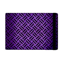Woven2 Black Marble & Purple Brushed Metalwoven2 Black Marble & Purple Brushed Metal Ipad Mini 2 Flip Cases by trendistuff