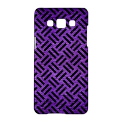 Woven2 Black Marble & Purple Brushed Metalwoven2 Black Marble & Purple Brushed Metal Samsung Galaxy A5 Hardshell Case  by trendistuff