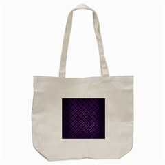 Woven2 Black Marble & Purple Brushed Metal (r) Tote Bag (cream) by trendistuff