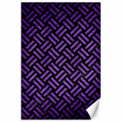 Woven2 Black Marble & Purple Brushed Metal (r) Canvas 20  X 30   by trendistuff