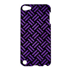 Woven2 Black Marble & Purple Brushed Metal (r) Apple Ipod Touch 5 Hardshell Case by trendistuff