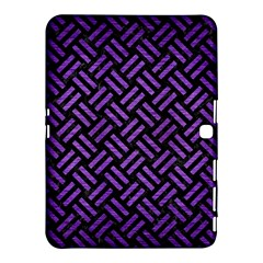 Woven2 Black Marble & Purple Brushed Metal (r) Samsung Galaxy Tab 4 (10 1 ) Hardshell Case  by trendistuff
