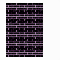 Brick1 Black Marble & Purple Colored Pencil (r) Small Garden Flag (two Sides) by trendistuff
