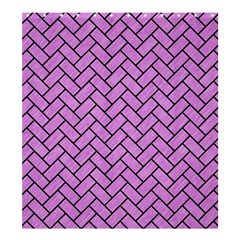 Brick2 Black Marble & Purple Colored Pencil Shower Curtain 66  X 72  (large)  by trendistuff