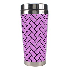 Brick2 Black Marble & Purple Colored Pencil Stainless Steel Travel Tumblers by trendistuff
