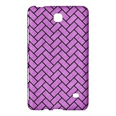 Brick2 Black Marble & Purple Colored Pencil Samsung Galaxy Tab 4 (8 ) Hardshell Case  by trendistuff