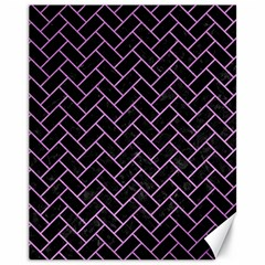 Brick2 Black Marble & Purple Colored Pencil (r) Canvas 11  X 14   by trendistuff