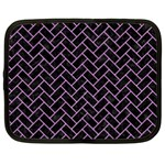 BRICK2 BLACK MARBLE & PURPLE COLORED PENCIL (R) Netbook Case (Large) Front